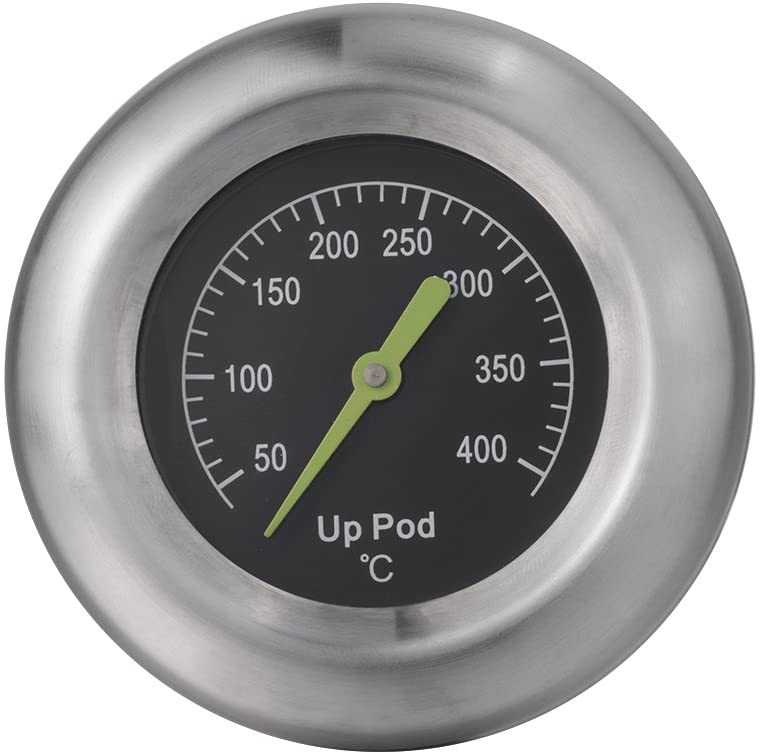 UPPOD Thermometer Grillzubehör Thermostat Grill Thermometer für Smoker 8,9 mm, Rosette